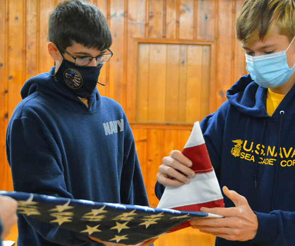 Sea cadet fold flag properly