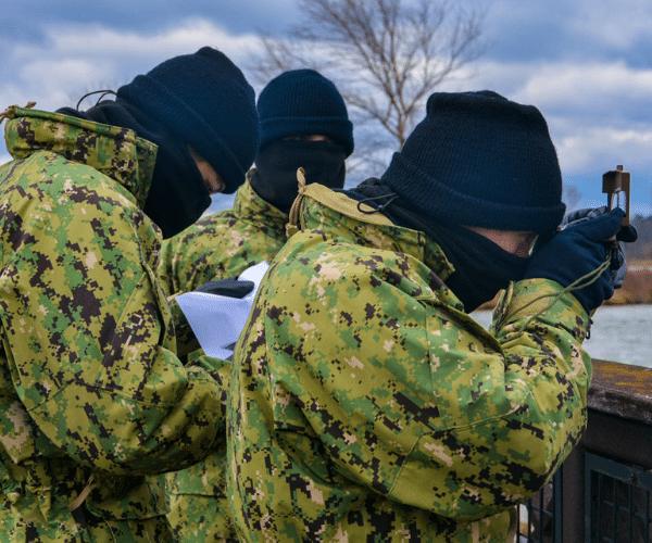 Sea cadet group doing land orientation