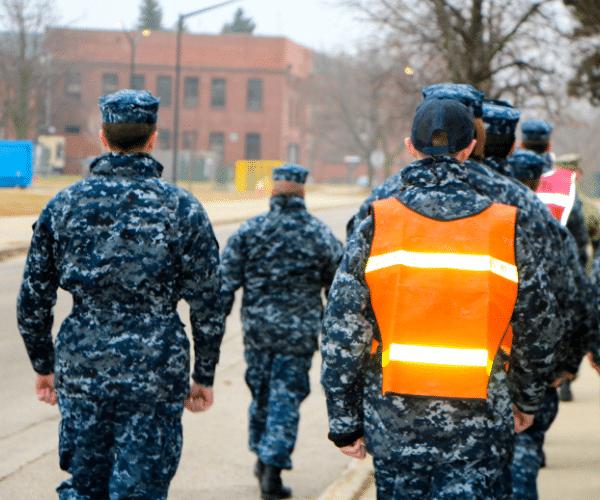 Sea cadet unit walks away