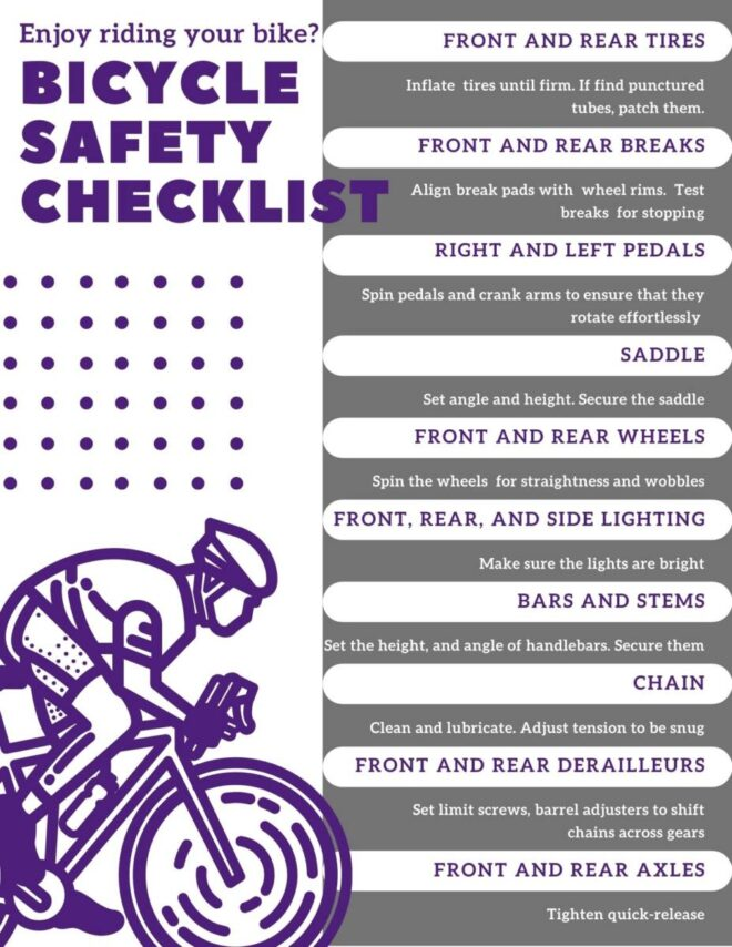 Bicycle Safety Printable Checklist